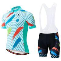 2021 летние велосипедные джерси набор дышащих командные гоночные спортивные велосипедные наборы мужские короткие велосипедные одежды M087