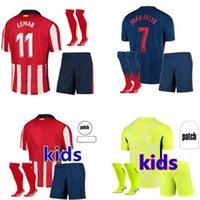 Atletico مدريد الاطفال كيت الشباب الفانيلة 20 21 Suárez home بعيدا 3rd correa كرة القدم الطفل 2021 جواو فيليكس لكرة القدم قميص