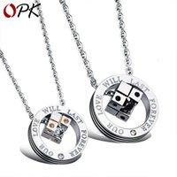 Anhänger OPK Schmuck Anhänger Liebe Rubik's Cube Titan Stahl Paar Halskette Geschenk