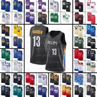 Kevin 7 Durant Kyrie Harden Irving Luka Basketball Jerseys Giannis Kuzma Doncic Joel Dwyane Lillard Embiid Wade Antetokounmpo Pippen Morant