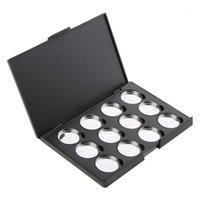 Boîte à palettes de maquillage à paupières de maquillage à paupières à paupières à paupières à paupières PANIÈRE Porte-guichets Plastique Outils de sourcils Stencilles1