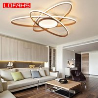 Ceiling Lights LOFAHS Modern LED Remote Brown Large Lamp Bulbs Daily Lighting 3 Years Surface Mounted Aluminum Cn(origin) AC