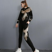 African Sets For Women Winter Long Sleeve Beading Sequined Elastic Bazin Baggy Pants Rock Style Dashiki Famous Suit Lady Ethnic Clothing