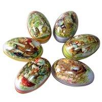 Party Favore Decorazione Cabochons Fashion Pasqua uova di Pasqua Cabdy Box Scatola di immagazzinamento 8 Tutti i pattens disponibili ZWL414