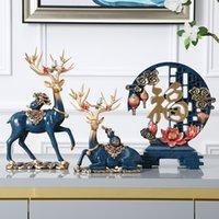 Décorations de meubles de vin de style chinois modernes de style chinois se déplaçant dans la nouvelle maison cadeau de mariage créatif home salon salle de séjour cabinet décoration de