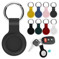 Apple Airtags Liquid Silicone Protective Sleeve For Apple Locator Tracker Anti-lost Device Keychain Sleeve Airtag Tracker Case