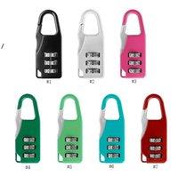 Travel Equipaje Lock de 3 dígitos Combinación de candado Zinc Alloy Número de aleación Cerraduras Código para Bolsa de cremallera Mochila Bolso Maleta Drawer Sea HAHA5483