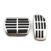 Pédales pour Qashqai J11 2014-2021 X-Sentier Rogue T32 Kicks Altima 2021 Micra K14 Gaz Fuel Fuel Feuille de freinage de la pédale de pavé de plaque de plaque de plaque