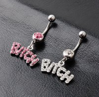 Silver Pink Sexy Crystal Body Piercing Surgical Button Belly Ring Fashion Jewelry Navel Bar