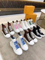 Yüksek Kaliteli Kadın Tasarımcılar Boot Üst Ayakkabı Beyaz Mavi Yeşil Pembe Bicolor Tıknaz Hafif Hi-Top Sneakers Squad Sneaker Çizmeler Kutusu Ile Boyutu35-40