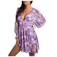 Casual Dresses Floral Print Party For Women Summer Bohemian Cocktail Beach Dress Sundress Vestido Camisero Mujer Ladies