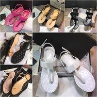 Yüksek Kaliteli kadın Düz Terlik Lüks Tasarımcı Sandalet Deri Marka Kızlar Slayt Sandalet Rahat Çevirme Boyutu 35-41 Kutusu Ile