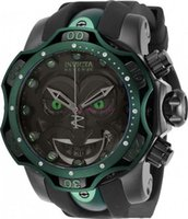 2021 Invicta Reserve Model - 26790 DC Comics Joker Venom Limited Edition Swiss Quartz Chronograp سيليكون حزام كوارتز ساعة