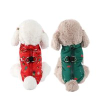 Dog Apparel XS-5XL Coat Winter Warm Waterproof Padded Puppy Vest Jacket Cotton Zip Up With Rings Costume Size Pet Clothes