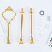 Essinger Werkzeuge 3 Stufe Kuchenständer Griff Stange Montage Krone Form Süßigkeiten Obst Display Rack DIY Hochzeit
