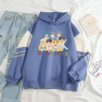 Loose Hoodies Large Casual Plush Thickened Color Block Matching Hoodie Sweatshirt Youth Girls Korean Style Sweatshirts Autumn Street Wear Cute Pullovers