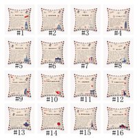DIY Pillow Case National State Envelope Pillowcase Printed SHORT FLOSS Pillowcase Retro Throw Pillow Case Home Pillow Covers OOD5613