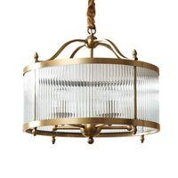 النحاس الحديثة الصمام E14 الثريا زجاج أنابيب جولة الذهب المعادن قلادة الإضاءة 2 نماذج في المبيعات شنقا مصباح الثريات الثريات