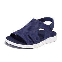 Sandals 2021 Women's Soft & Comfortable Mesh Upper Breathable Adjustable Cross-strap Design Sandalias Mujer