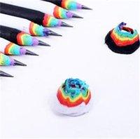 lápiz kawaii lápiz arco iris para niños Papel ambiental Escuela Lápices escritura Lápiz de grafito coloreado al por mayor 220 v2