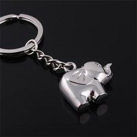 Keychains Handbag Charm Accessory Alloy Elephant Keychain Animal Key Rings For Girl Wholesale 1Pcs Silver Color Gold Colors
