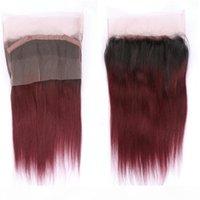 Темные корни 1b 99j прямые волосы с 360 фронтальным закрытием Оммре предварительно выбованные 360 фронтальные с 1b 99j прямые пакеты волос