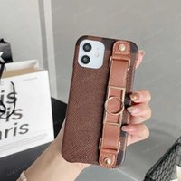 Top Flower Letter Phone Cases for iPhone 12 Mini 12pro 11 Pro 11pro X Xs Max Xr 8 7 8plus 7plus Leather Skin Vogue Pattern Case Cover Anti Skid Wrist Strap Shell + Box