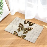 Carpets CAMMITEVER Butterfly Insect Vintage Retro Doormat Carpet Home Decor Area Rugs Bedroom Floor Living Room Kitchen Mat