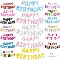 "16 ""Happy Birthday Film Set Aluminum Foil Balloon Party"
