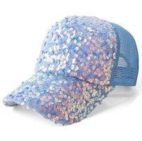 Lady Sequins Baseball Traspirante cappuccio netto della primavera di estate di estate dei cappelli adulti 5pcs / lot.