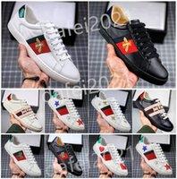 Hombre Italia Bee caminar zapatos casuales zapato plano zapato tigre serpiente verde rayas rojas bordadas parejas de moda entrenadores de moda Chaussures