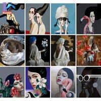 Dipinti dipinti da numeri per adulti Dreadalist Pittura Moda Decorazione Della Casa Fabbrica Consegna diretta Goccia