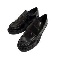 새로운 도착 여성 드레스 웨딩 파티 신발 고품질 가죽 신발 플랫폼 샌들 패션 비즈니스 공식적인 로퍼 사회적 chunky 신발