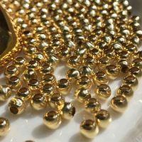 Au 750 18k guld lösa pärla bollmonteringsresultat smycken inställningar tillbehör delar till DIY gör halsband armband