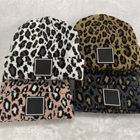 Дизайнерская шапка для женщин для женщин Мужчины Зимние вязаные черепахи Шляпы Унисексные дамы Теплые капоты леопардовые кепки