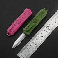 BM 4-Color Mini Portable Quick-Opening Double Action Automatic Knife 440 Blade Non-Slip Handle Outdoor EDC Camping Multi-Function Tool