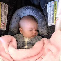 Bebek Araba Güvenliği Yumuşak Uyku Kafası Destek Yastık Eşleştirme Emniyet Kemeri Kayışı Kapakları Bebek Cazip Boyun Koruma Kafalık 2494 Q2