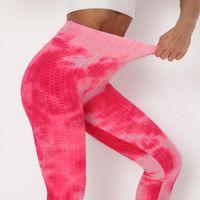 Women's Leggings Colorful Tie-Dye Women Gym Legging High Waist Fitness Elasticity Tights Running Push Up Pants