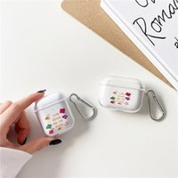 Cute Flowers Clear Earphone Cases For Apple AirPods Pro 2 3 Transparent Soft TPU Wireless Bluetooth Headset Protect Cover Charging Box
