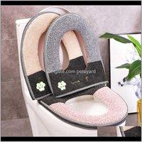 Aessories Bath Home & Gardenuniversal O Shape Warm Flannel Soft Toilet Seat Lid Er Closestool Case Zipper Mat Household Bathroom Pad Ers Drop