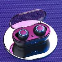 Наушники TWS Bluetooth Y50 Поддержка 5.0 Беспроводные наушники стерео-гарнитуры Спортивные наушники с зарядной коробкой для iPhone Huawei