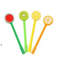 Fruta vegetal forma ballpoint canetas gel criativo desenhos animados bolpoints caneta nha5223