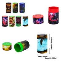 Caja de la caja de la píldora redonda de plástico 165 ml caja de almacenamiento de contenedor de la hierba seca tobacco té té latas STASH MULTI ESTILOS Impresión DHL