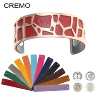 Cremo Giraffe Rose Gold Bangles For Women Jewelry Personalised Stainless Steel Bracelets Manchette Reversible Leather Pulseiras Bangle