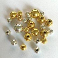 500gram / parti 2,3-3mm gyllene akryl rund pärla spacer lösa pärlor smycken, plagg
