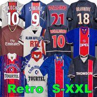 PSG.저지 93 94 95 96 레트로 축구 유니폼 Okocha Simone Leonardo Beckham 98 99 00 01 02 03 90 92 클래식 Rai Ibrahimovic Camisas de Futebol Ronaldinho Maillot de Foot