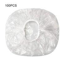 Shower Caps Disposable Cap Transparent Elastic Plastic For Bathroom Spa El And Hair Salon