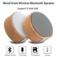 Altavoz Bluetooth inalámbrico de madera A60 Portátil Mini subwoofer Audio Audio Estéreo Estéreo Sistema de sonido TF AUX USB Portátil