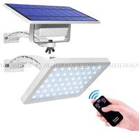 800LM ضوء الحديقة الشمسية 48LEDS IP65 دمج تقسيم مصابيح الشمسية مع زاوية قابلة للتعديل في الهواء الطلق أضواء الجدار الشمسية في الشارع بارك مجتمع الطريق الممر