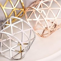 3 Colors Metal Napkin Ring High Grade Western Food Napkins Buckle Towel Buttons Restaurant Hotel Party Kitchen Table Decoration RRD11010
